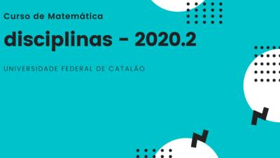 Disciplinas 2020.2