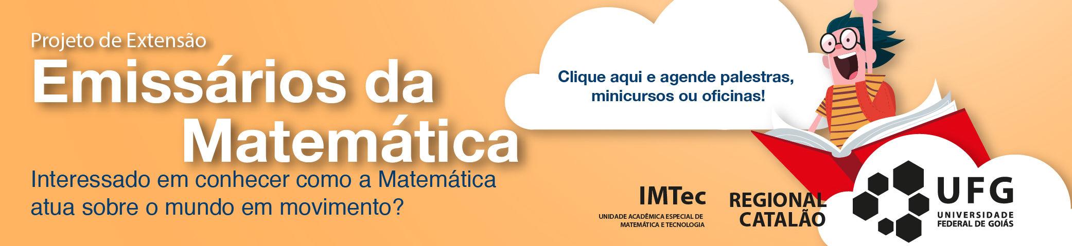Banner do projeto Emissários da Matemática