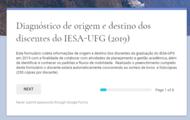 Origem e destino dos discentes do IESA-UFG