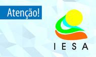 escrita Atenção seguido do logotipo do IESA