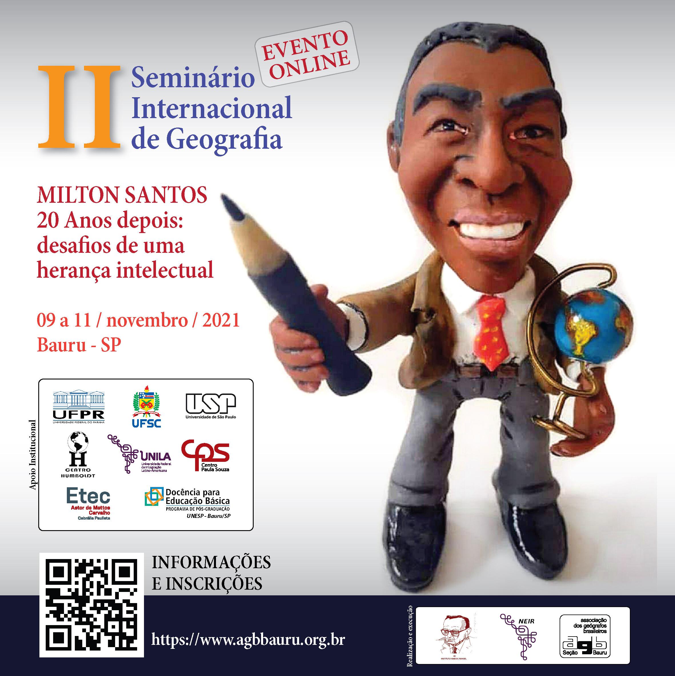 Divulgação Seminário Internacional Milton Santos