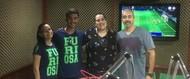 Grupo da Enfermagem na rádio Cultura
