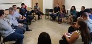 Reunião sobre a casa do estudante com o movimento estudantil da RC