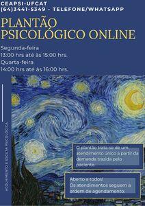 CEAPSI da UFCAT oferecer plantão psicológico online à toda comunidade