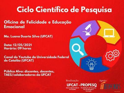 Ciclo Científico de Pesquisa da PROPESQ promove oficina de Felicidade e Educação Emocional