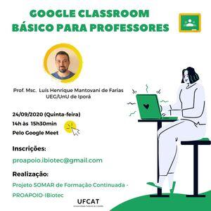 Google Classroom básico para Professores