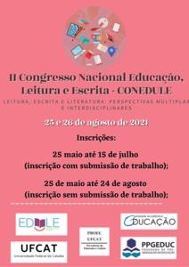 II Congresso Nacional de Educação, Leitura e Escrita – CONEDULE