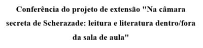projeto extensão
