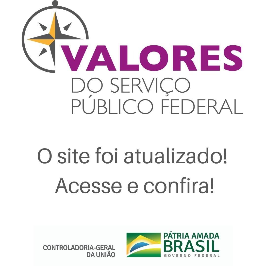 Atualização do site do Projeto Valores do Serviço Público Federal
