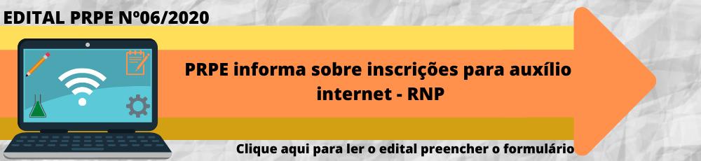 Publicado o Edital PRPE/UFCAT nº 6 para Auxílio Internet