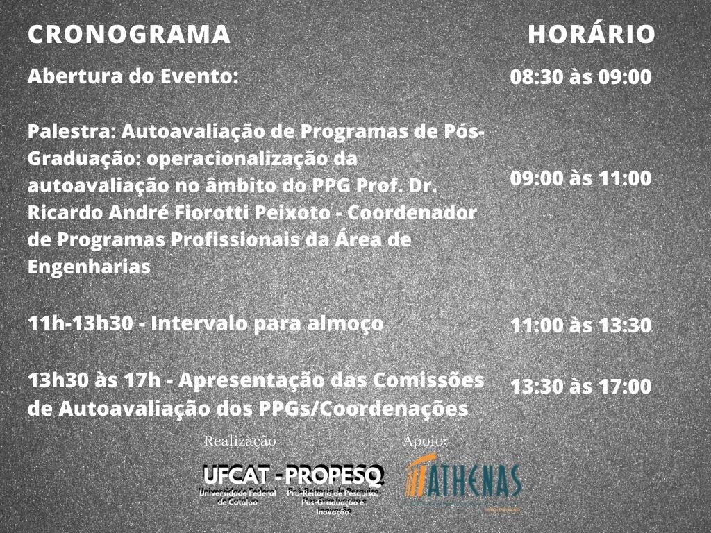 II Seminário de Autoavaliação de Programas de Pós-Graduação