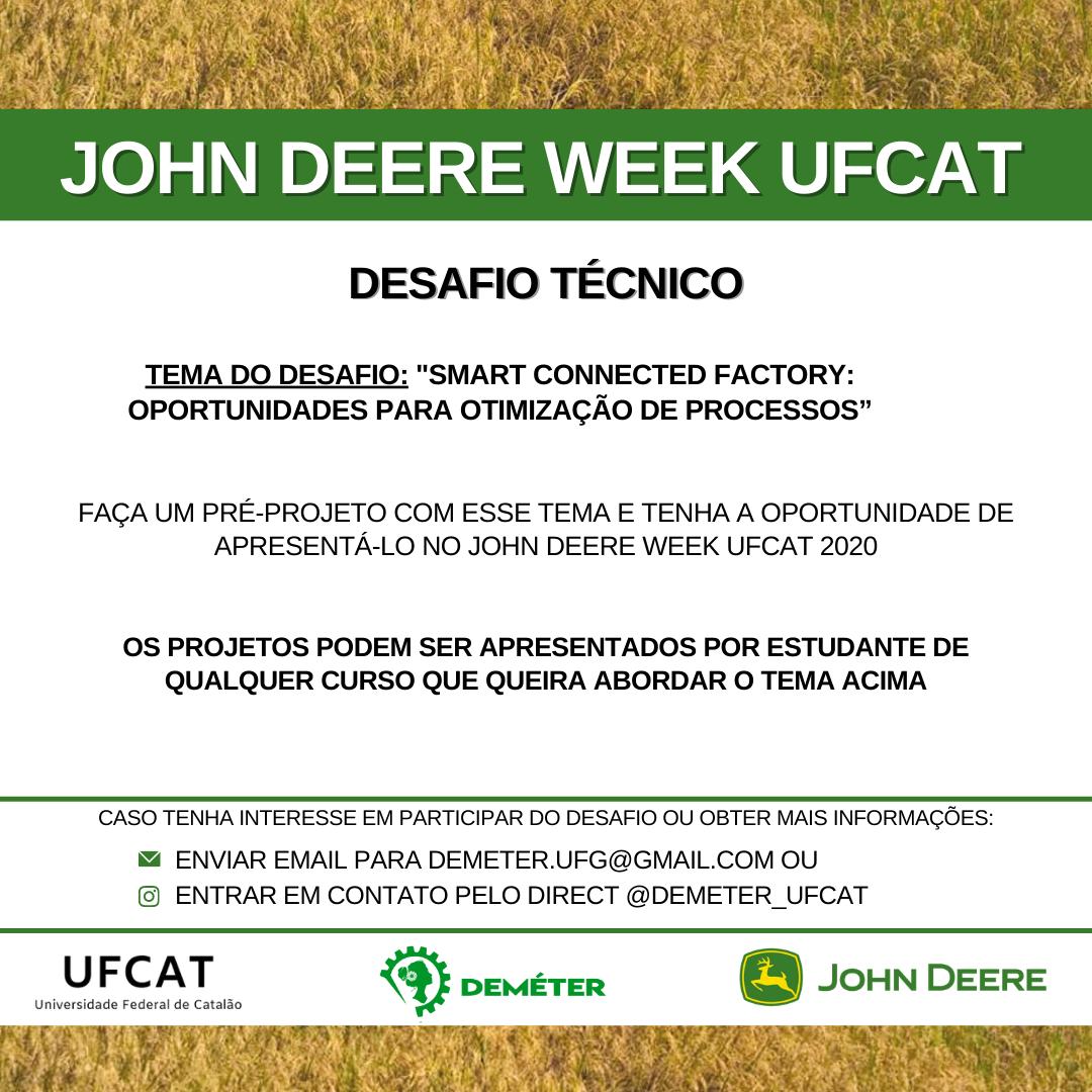 John Deere Week UFCAT - desafio