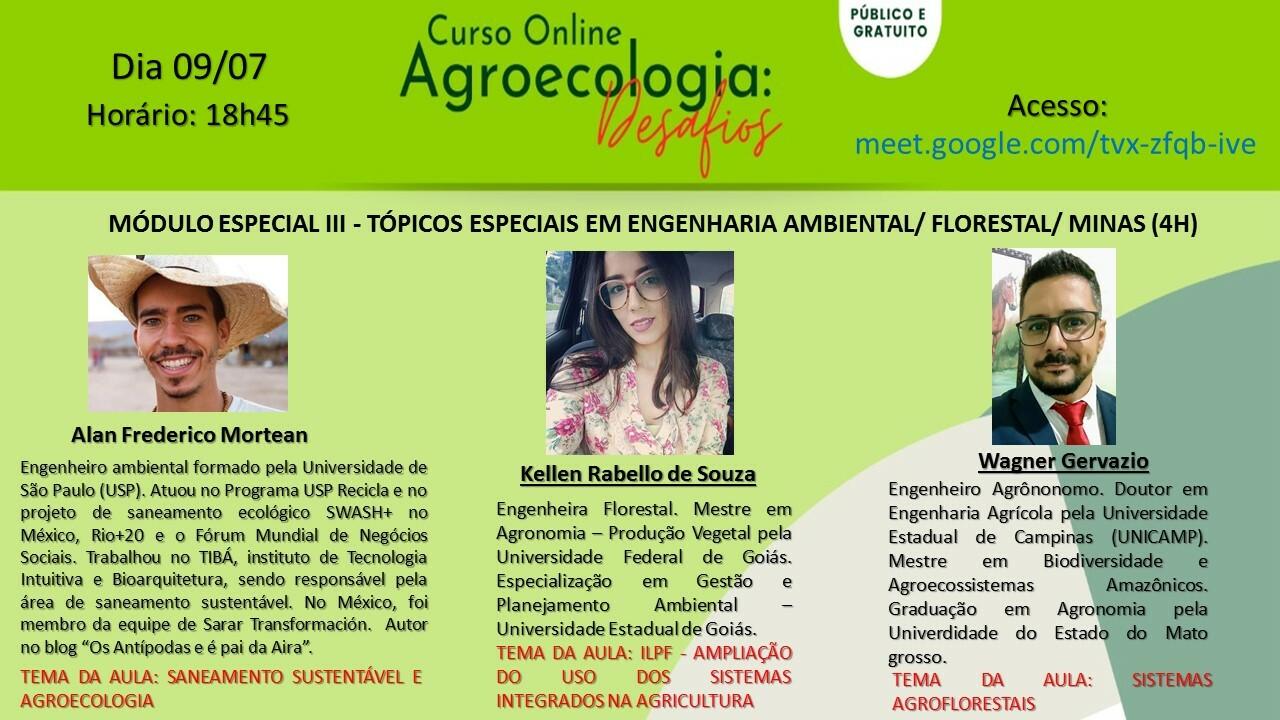 MÓDULO ESPECIAL III - Tópicos Especiais em Engenharia Ambiental Florestal e Minas