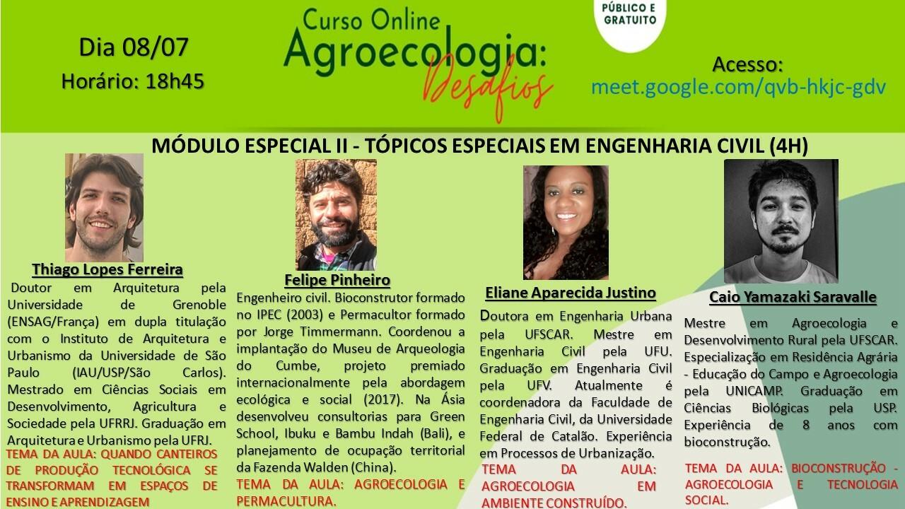 MÓDULO ESPECIAL II - Tópicos Especiais em Engenharia Civil