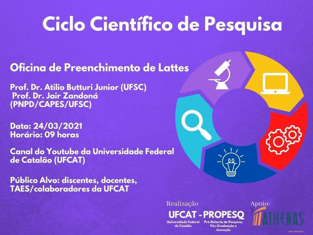 Ciclo Científico de Pesquisa - Oficina de Preenchimento de Lattes
