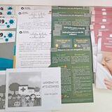 Material impresso sobre a COVID 19 a ser distribuído para a população