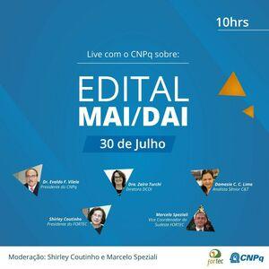 Live: Edital MAI/DAI