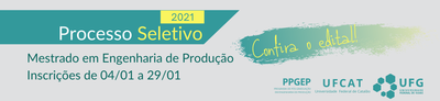 Edital para seleção de alunos regulares 2021/01 - PPGEP
