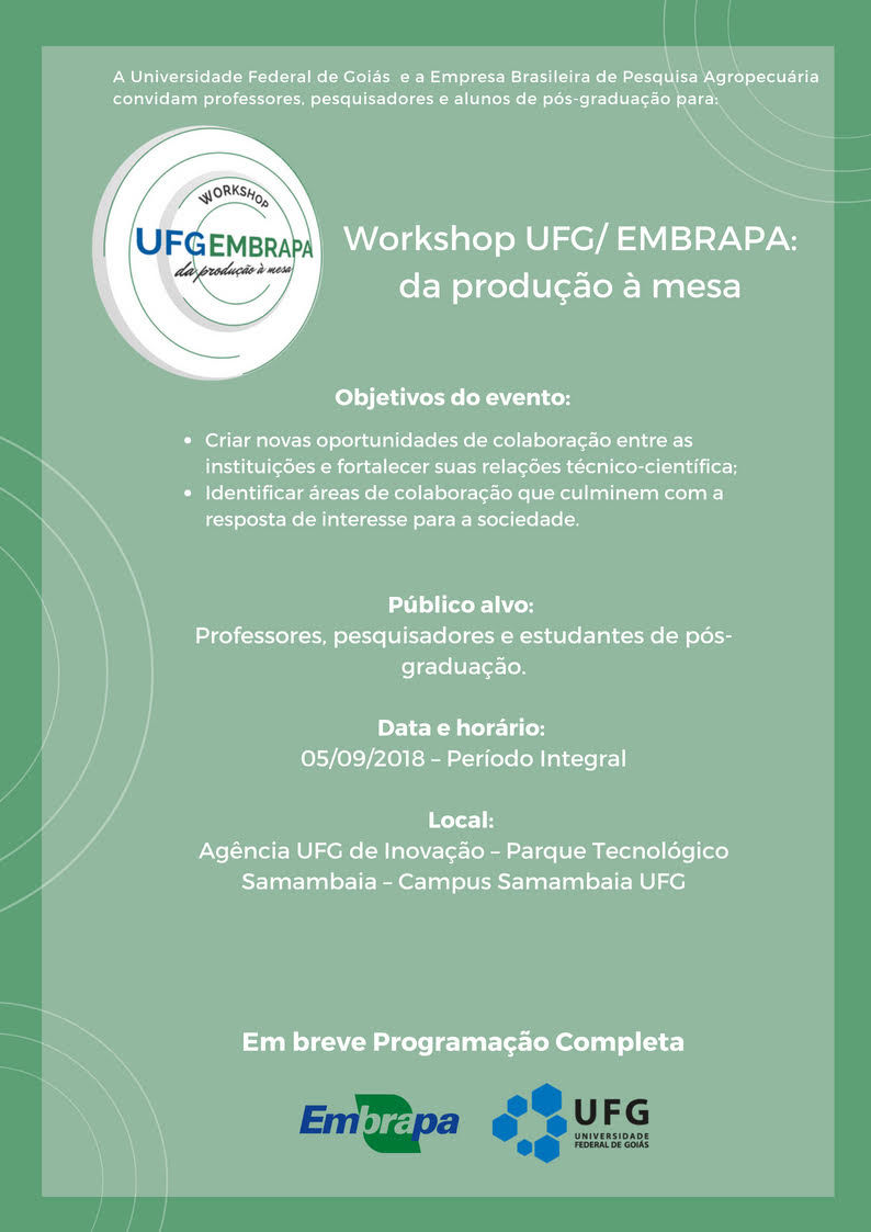Workshop UFG/EMBRAPA