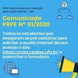 PRPE lança edital para os/as estudantes que desejam solicitar Auxílio Financeiro para Inclusão Digital.