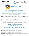 divulgacao disciplina isolada curso pedagogia 2020 1