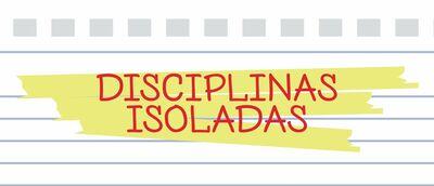 Disciplinas_isoladas