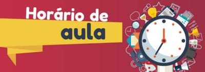 HORÁRIO DE AULA