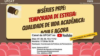 Séries PRPE – temporada de estreia, de 7 a 12 de dezembro – salas