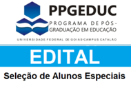 Edital Seleção Alunos Especiais 2015/2
