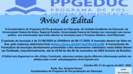 Aviso Edital PPGEDUC