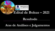 Edital N° 002/2021  - EDITAL SELEÇÃO DE BOLSAS  - RESULTADO