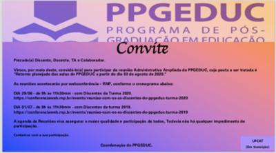 Convite Reunião Administrativa Ampliada