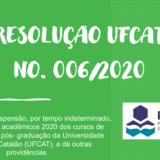 Imagem - Resolução N. 006/2020 UFCAT