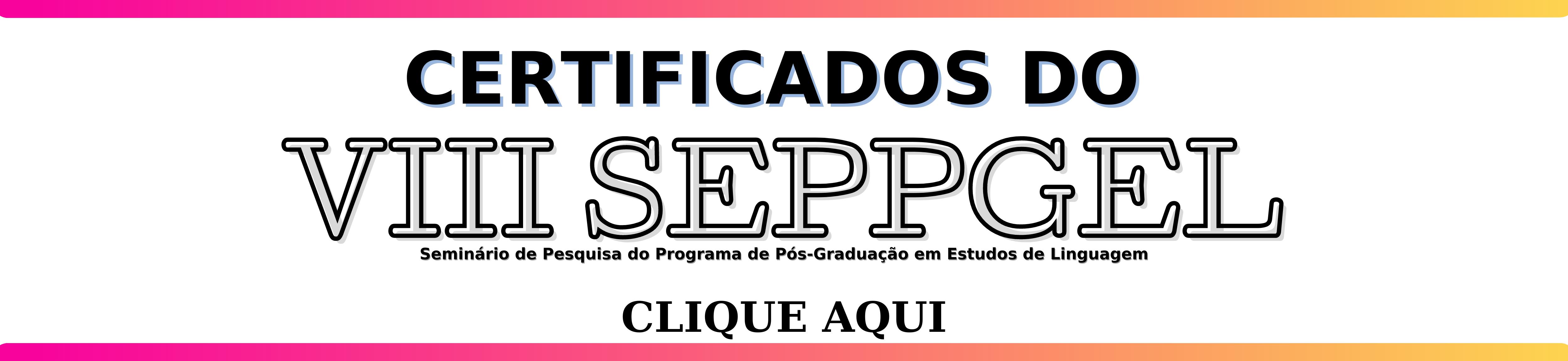 Certificados disponíveis - VIII SEPPGEL