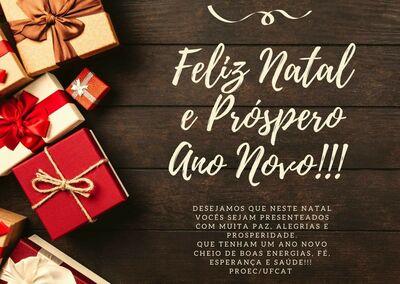 Feliz Natal e Prospero Ano Novo - PROEC.UFCAT