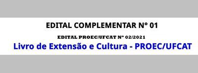 Livro PROEC - edital complementar 01