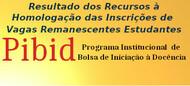 Resultado dos Recursos à Homologação das Inscrições de  Vagas Remanescentes Estudantes Edital 03