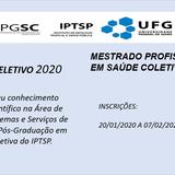 Processo Seletivo 2020 - Mestrado Profissional Saúde Coletiva