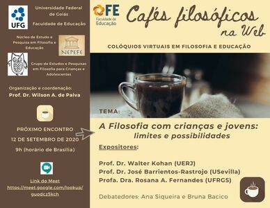 Cafés Filosóficos na Web