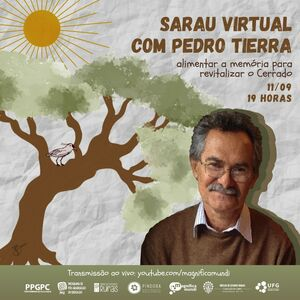 Convite Sarau virtual com Pedro Tierra