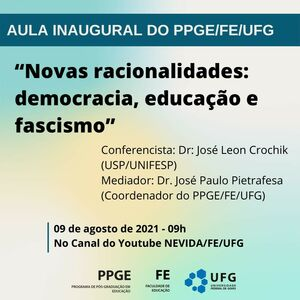Aula Inaugural do PPGE/FE/UFG