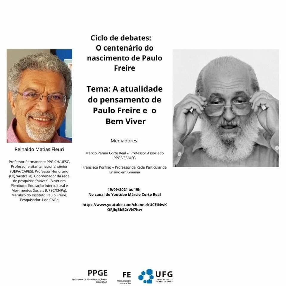 Ciclo de Debates: O centenário do nascimento de Paulo Freire