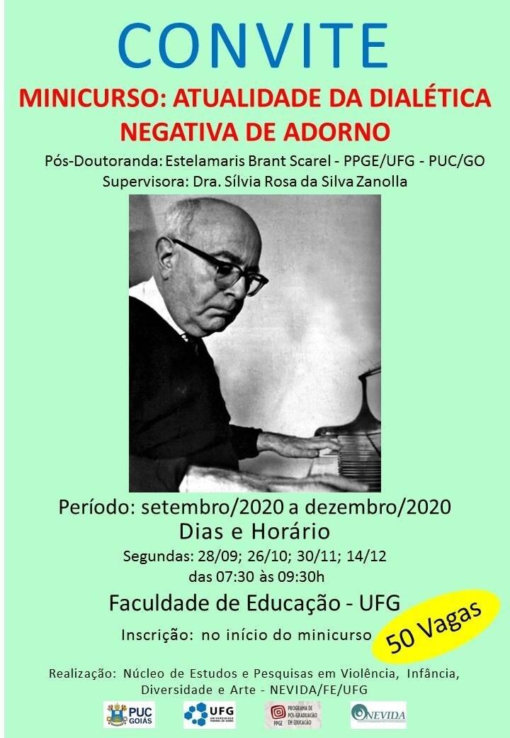 Convite Minicurso: Dialética de Adorno