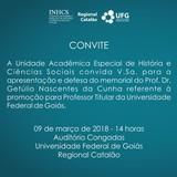 Convite Getulio Memorial