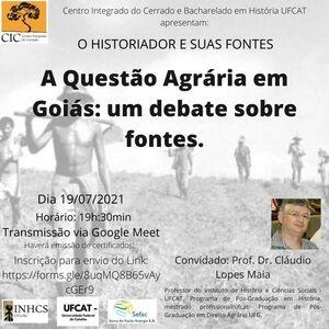 A Questão Agrária em Goiás um debate sobre fontes