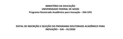 Edital DAI 2020