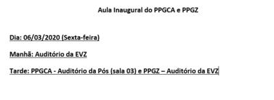 Imagem Aula Inaugural dos PPGs 2020