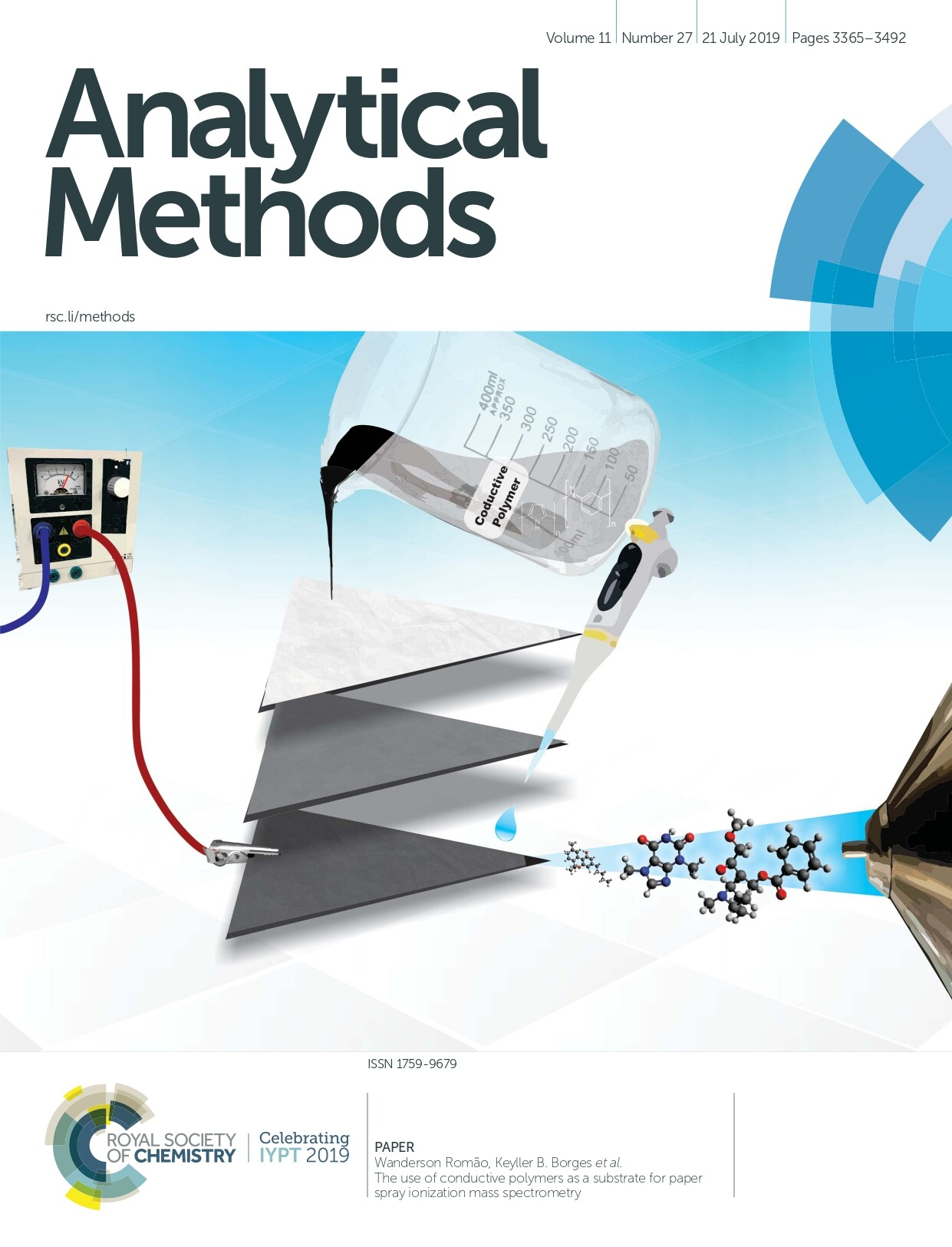 PAPERWanderson Romão, Keyller B. Borges et al.The use of conductive polymers as a substrate for paperspray ionization mass spectrometry