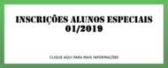 Chamada Alunos Especiais 1-2019