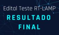 Notícia resultado final Edital RT-Lamp UFG
